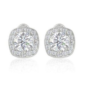 ZAXIE - Cushion Cut CZ Halo Stud Earrings